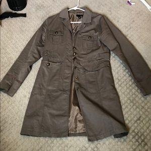 H&M Grey Duster Jacket Sz EUR40/US 10